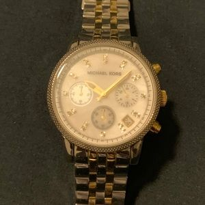 Michael Kors watch with two tone band